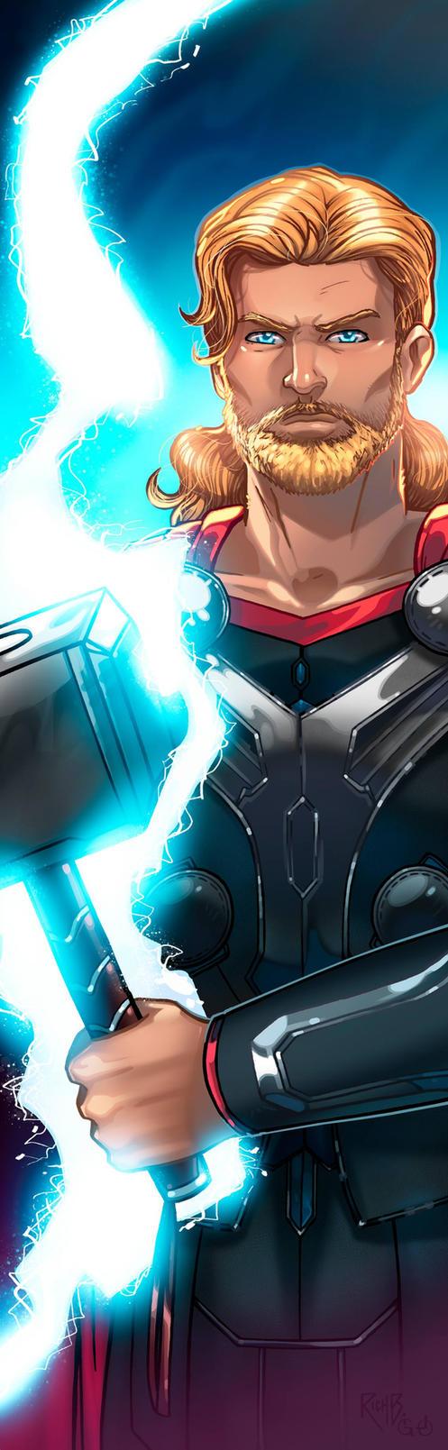 Thor Panel Art 2 by RichBernatovech