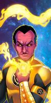 Sinestro Panel Art