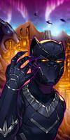 Black Panther Panel Art 2