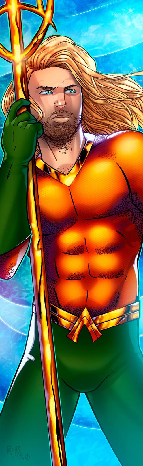 Aquaman Panel Art 2 by RichBernatovech
