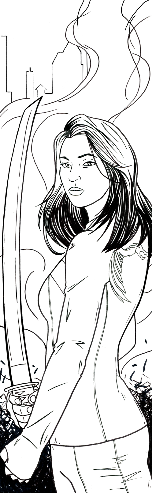 Colleen Wing Art Inks by RichBernatovech