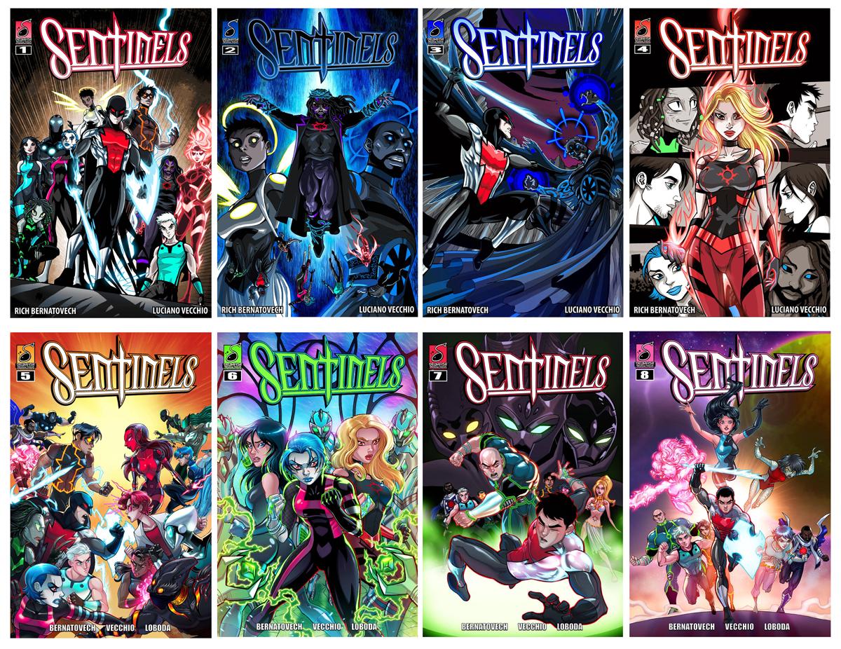 Sentinels Digital Covers Issues 1-8