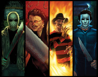 Horror Movie Characters Grouping by RichBernatovech