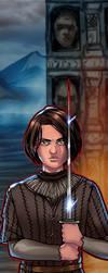 Arya Stark Panel Art by RichBernatovech