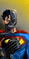 Cyborg Superman Panel Art