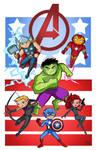 Toon Avengers Grouping 1