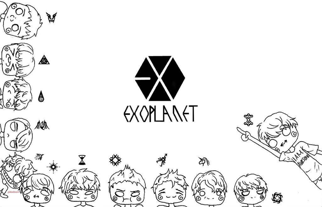 Chibi EXO Coloring Page By Sketch Pan On DeviantArt