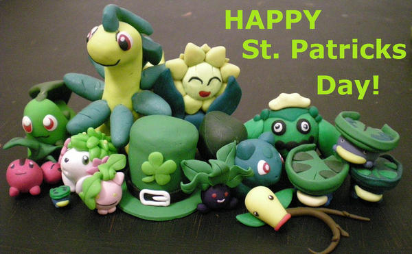 St Pattys is for Grass pokemon by Foureyedalien