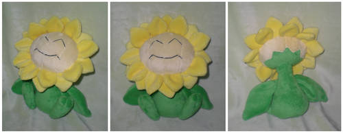 Sunflora plush by Foureyedalien
