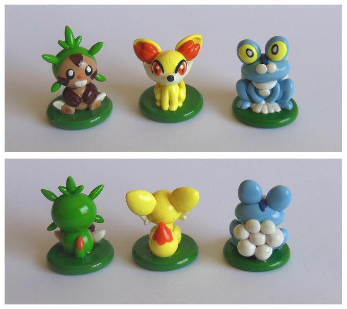 Gen 6 starter minicots by Foureyedalien