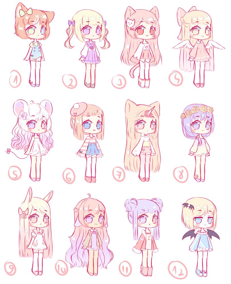 [OPEN 3/12] Random adopts batch 2 by Seraphy-chan on ...