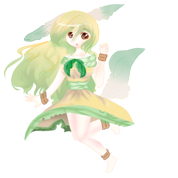 Leafeon human hurr by ...