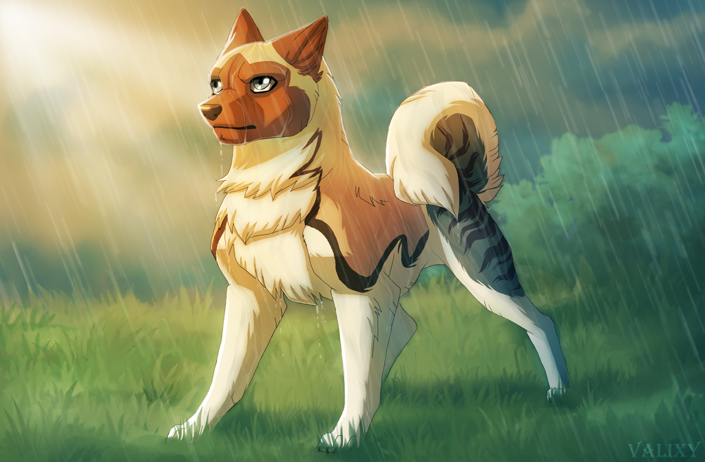Art Trade: Downpour by Valixy