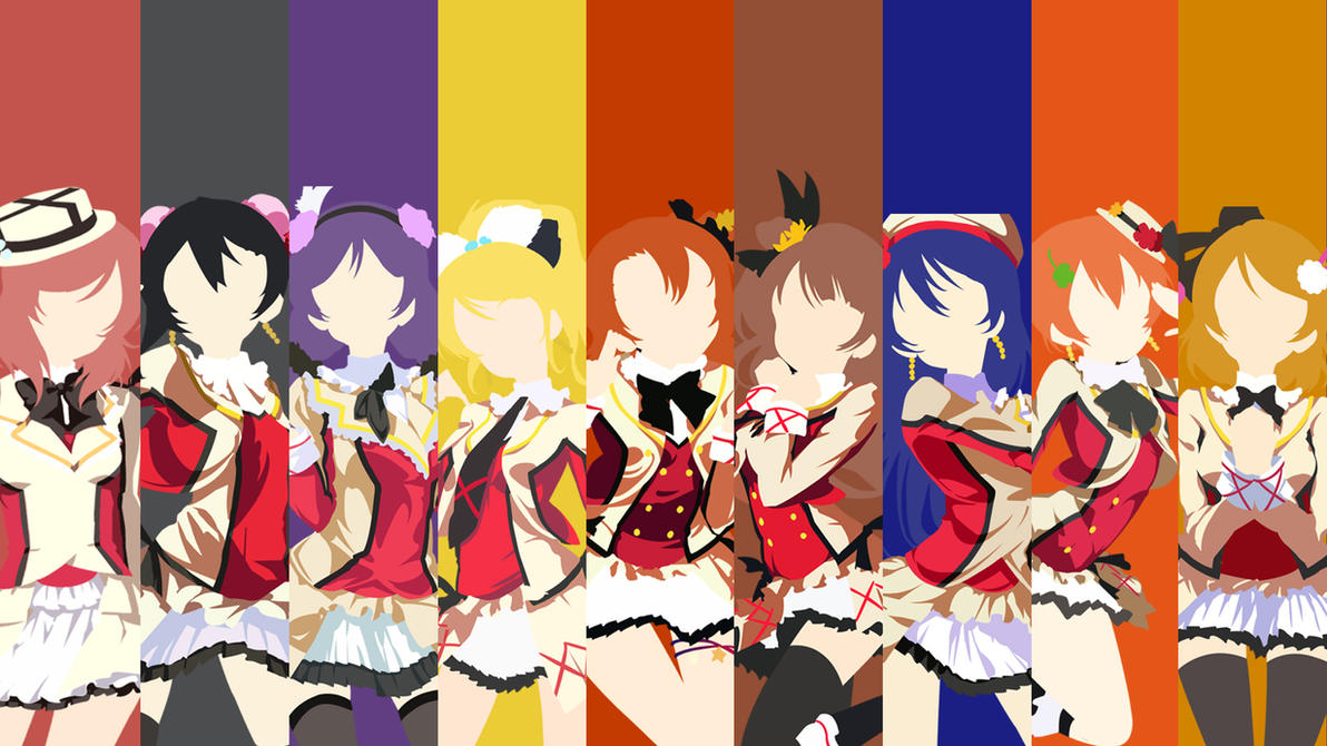 Love cartoon Live Wallpaper : Love Live! minimalist wallpaper by sbbbgs on DeviantArt
