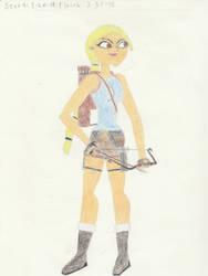 Tatina as Lara Croft by Paleo-Beast-Emperor