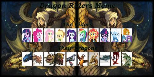 Equestria Girls dragon riders meme by Paleo-Beast-Emperor