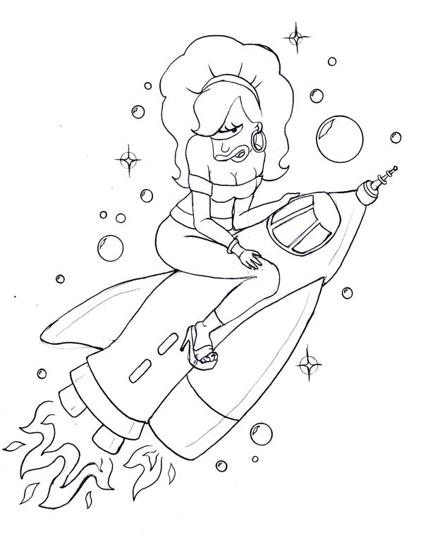 Rocket Leela - Tattoo Design by opia