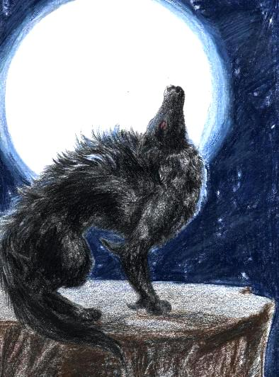 Big Evil Black Wolf With Glowing Red Eyes dream meanings