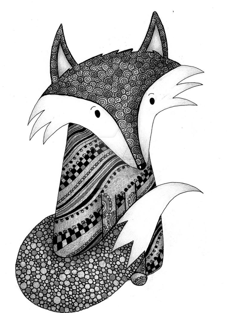 Finlay Fox Greyscale by x-hamster-x