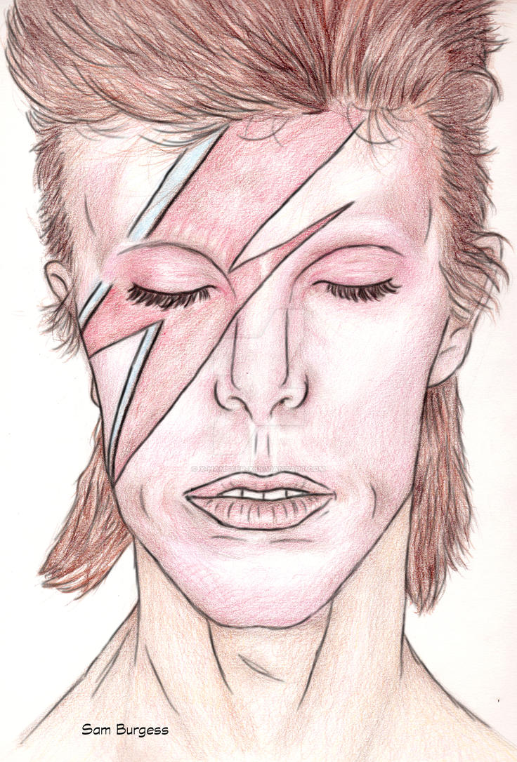 David Bowie Portrait by x-hamster-x