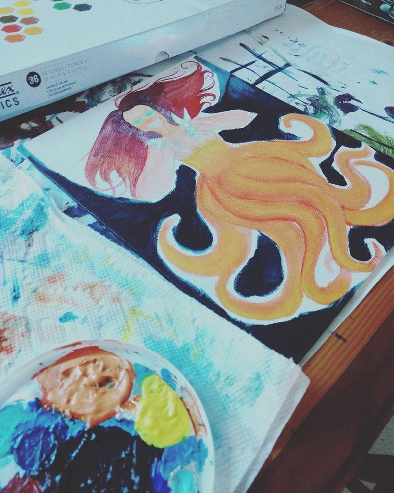 Wrath the Orange Ghost Squid by jackylack