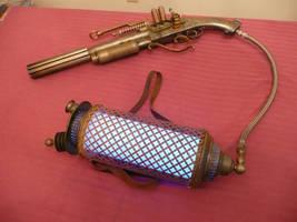 Steampunk Rifle and Backpack by MatthewSilva