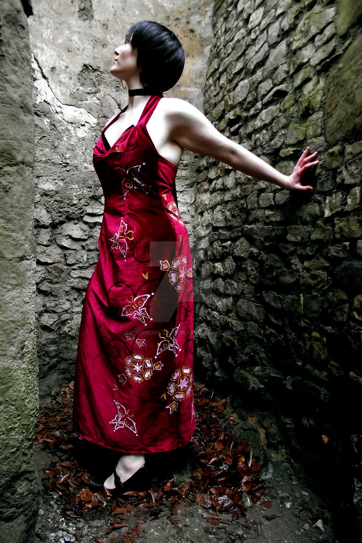 Ada Wong Cosplay At the Castle by Frederica-La-Noir
