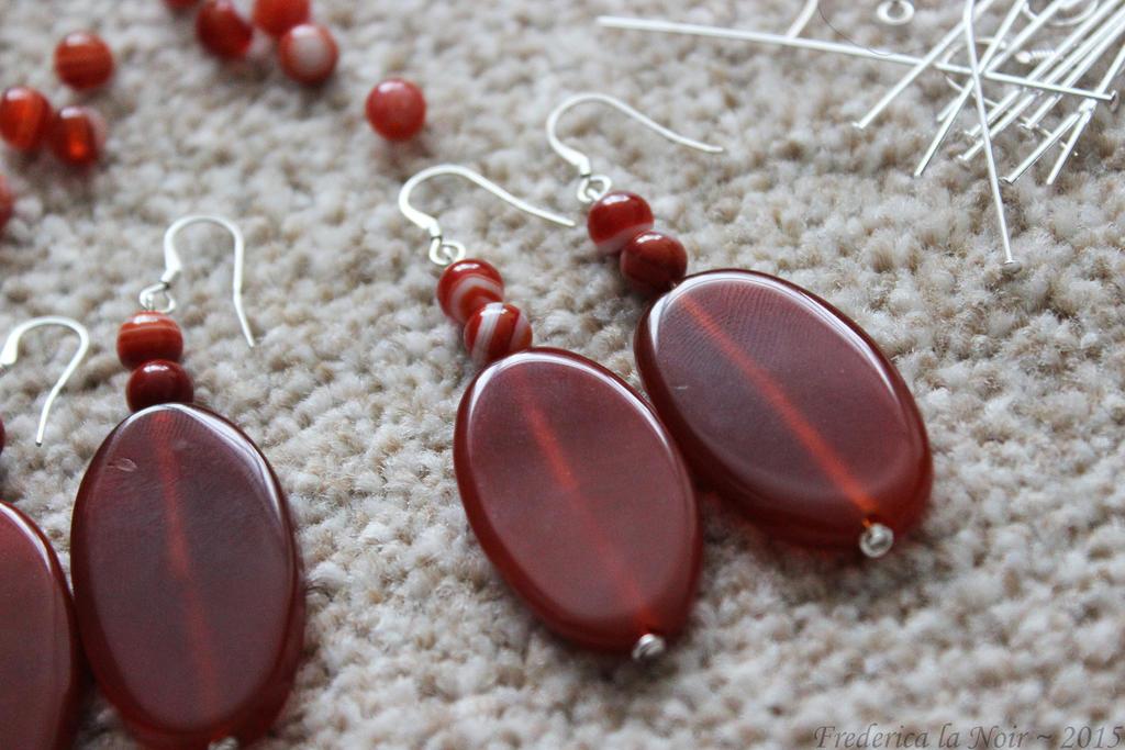 FFX Lulu Silver and Agate Earrings by Frederica-La-Noir