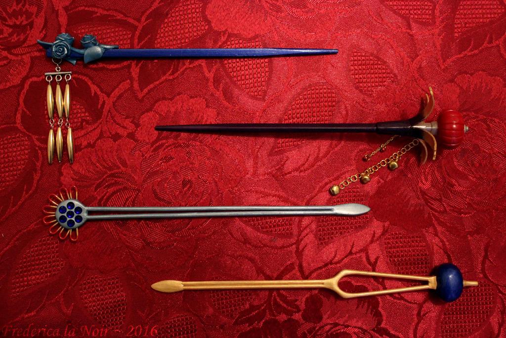 FFX Lulu Hair Sticks/Pins v.2 by Frederica-La-Noir