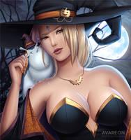 [Naruto] Halloween Tsunade (NSFW optional) by Avareon