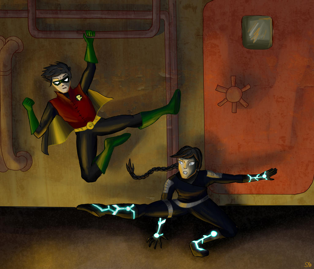 Robin vs omen by scareybear on deviantart for Portent vs omen