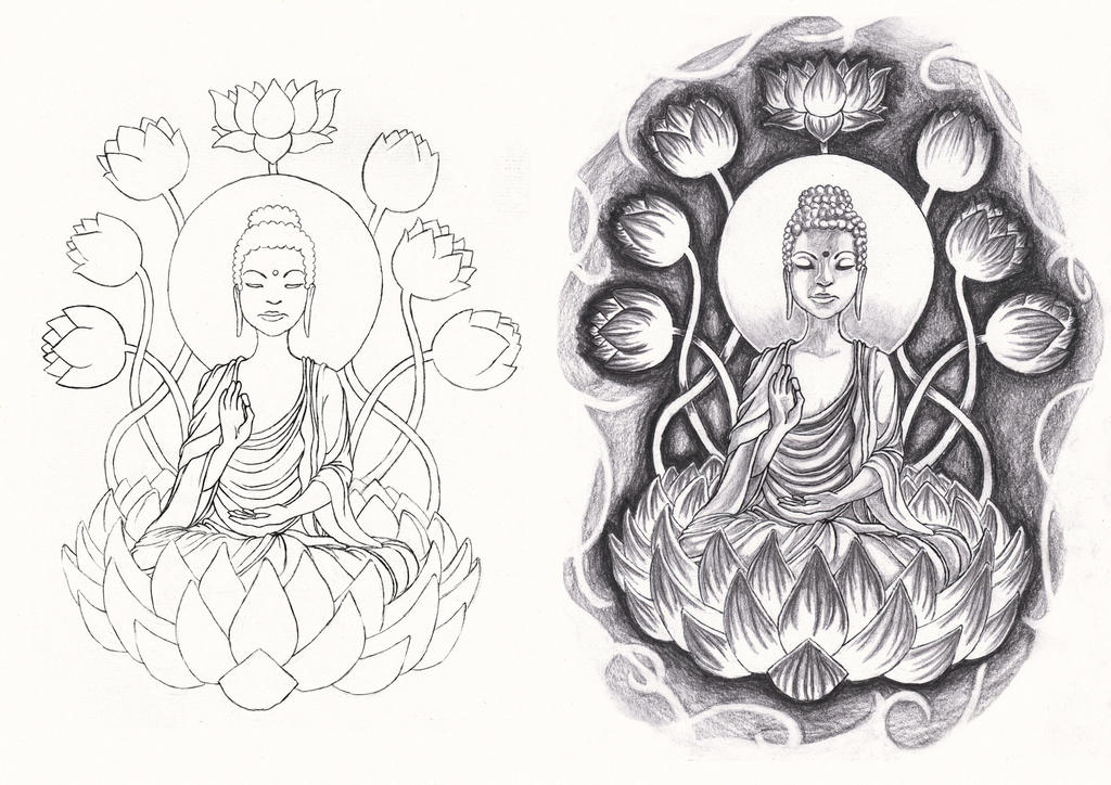 buddha tattoo commission by arahiriel on deviantart. Black Bedroom Furniture Sets. Home Design Ideas