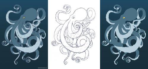 Octopus by Arahiriel