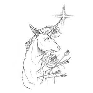Unicorn - 5 of wands