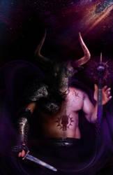 Minotaur Mage by Saxon-wolf23