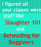 Slaughter 101 by stardustpitch