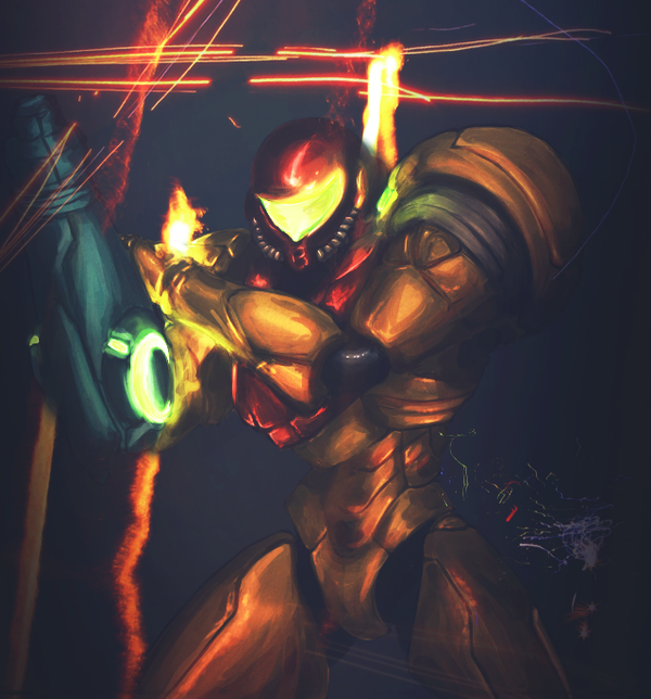 Samus Aran - Metroid by Pe-crowd