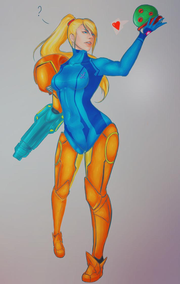 - Samus Aran - Metroid - by shawbrando