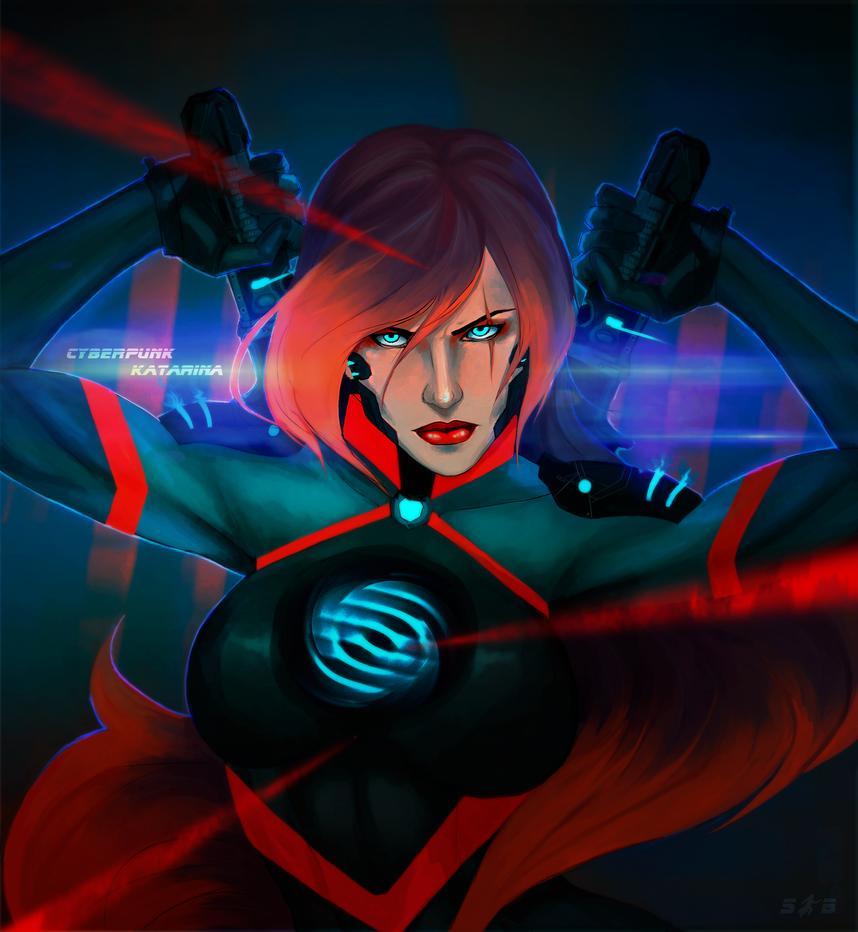 Cyberpunk Katarina. by shawbrando