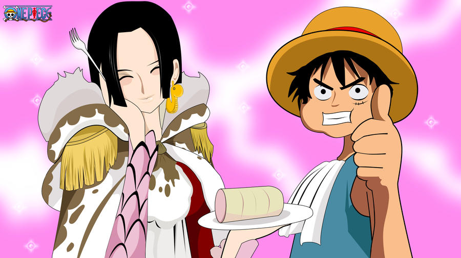 Luffy and boa hancock by xerxex on deviantart - One piece luffy x hancock ...