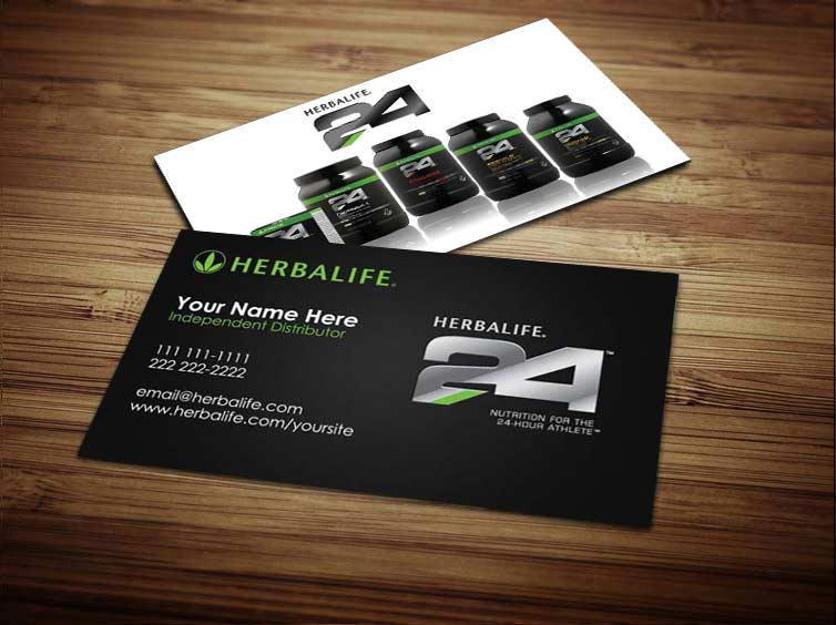 Gallery For Herbalife24 Logo Business Cards