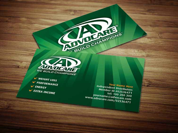 Advocare Business Cards by Tankprints on DeviantArt