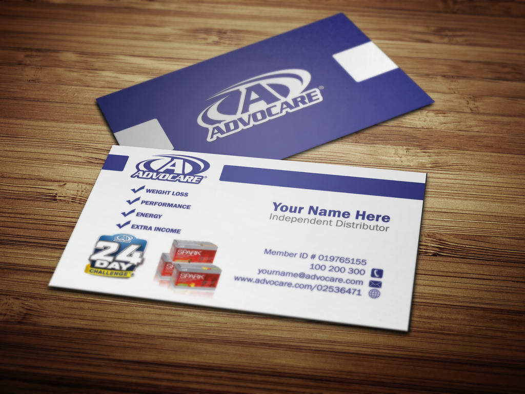 Business Cards for Advocare Assocaites by Tankprints on