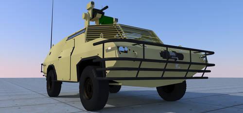 Fox reconnaissance vehicle/light MRAV beauty shot. by kaasjager
