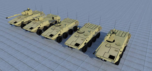 Lynx wheeled armoured vehicle series by kaasjager