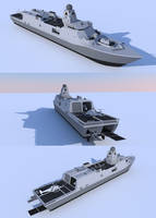 Amphibious Support Frigate by kaasjager