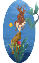 A thought of a mermaid-Collab by asoe