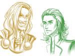 Thor Loki Doodles