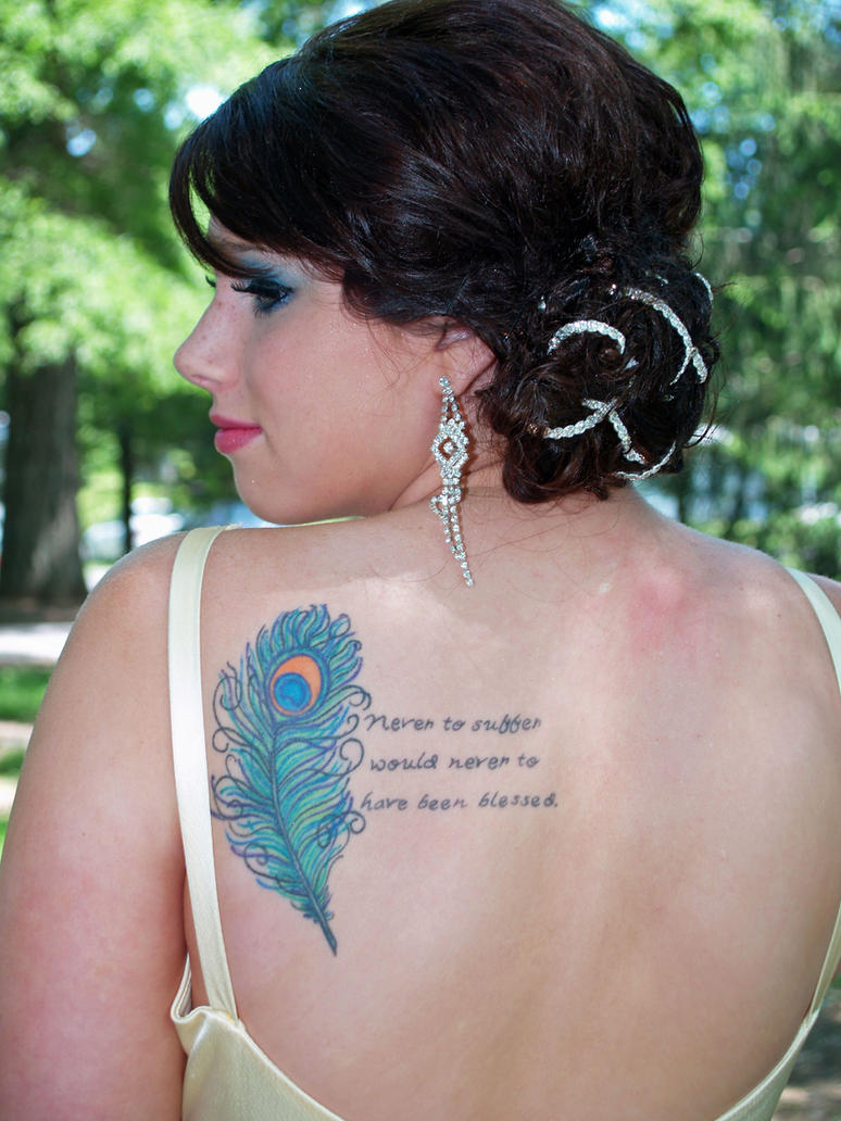 Peacock Feather Tattoo Designs For Women Picture 3