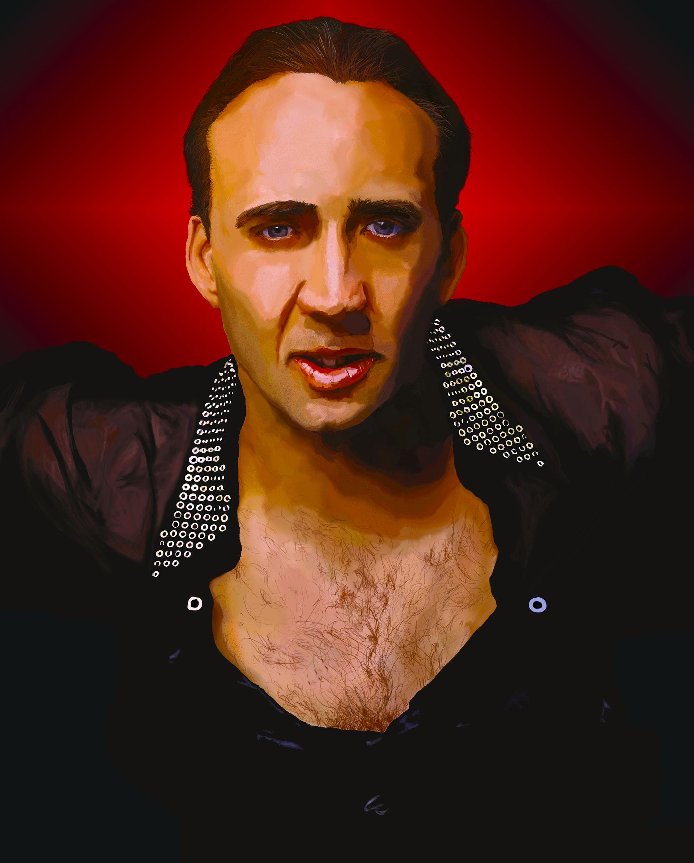 Nicolas-Cage-Painting by CorleyMcJones